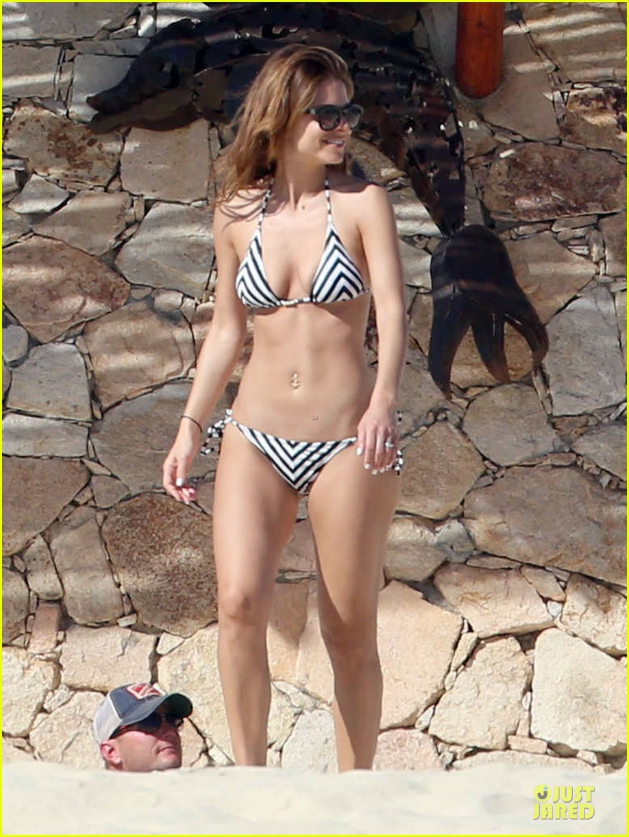 maria menounos black white bikini in cabo san lucas 163022560