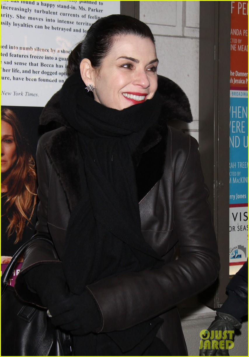 julianna margulies supports debra messings opening night 143039087