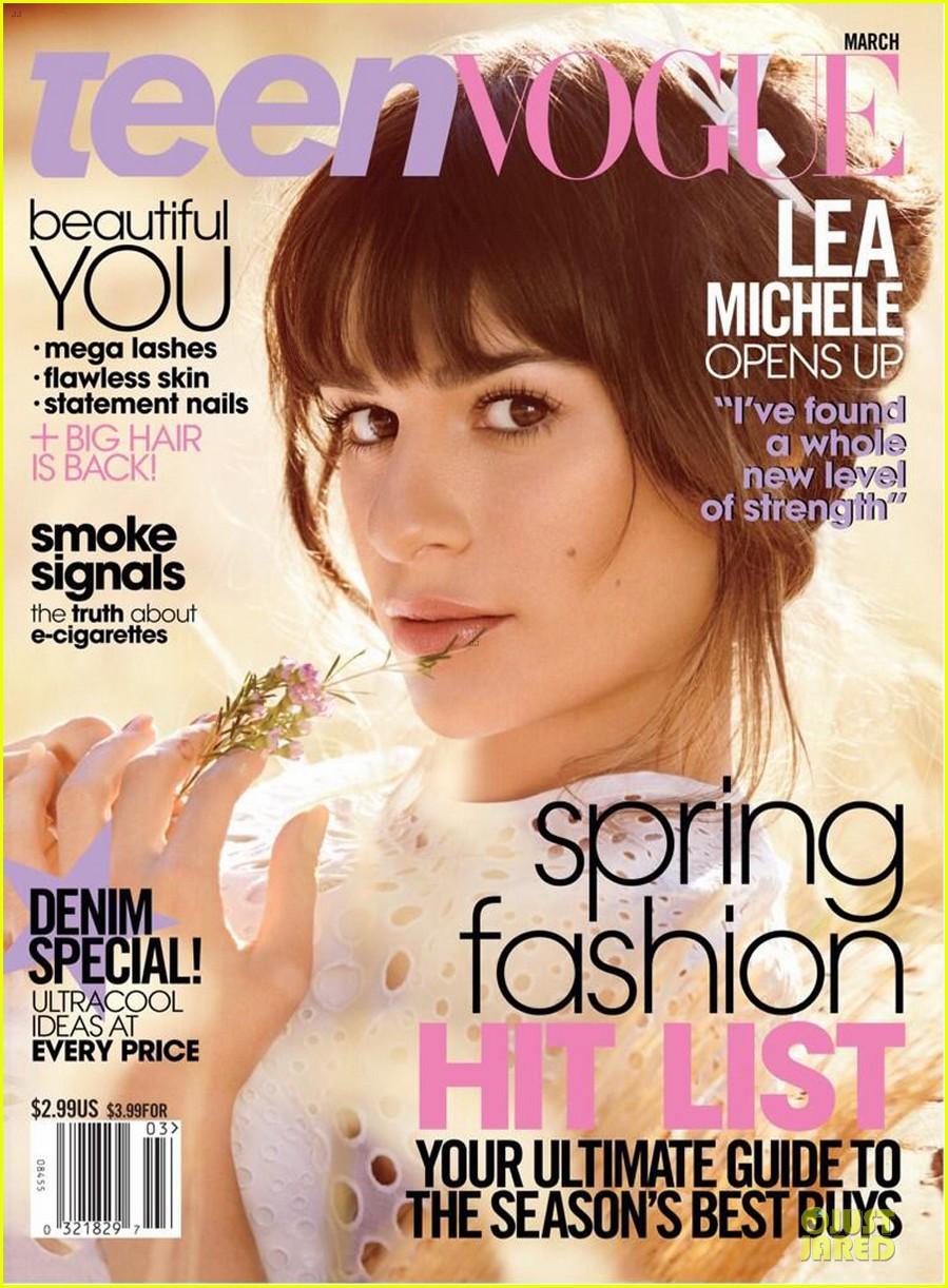 vogue Lea Michele  Thread: Teen makeup natural Vogue March 2014