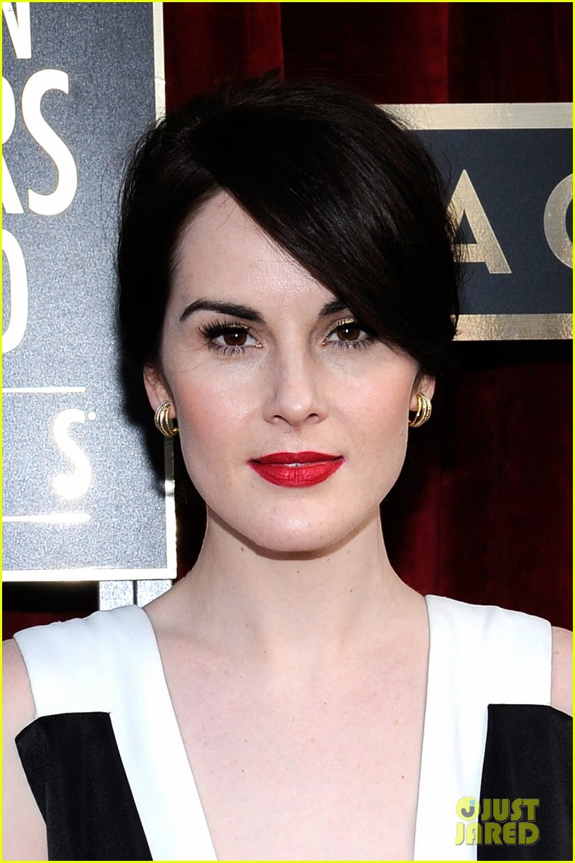 michelle dockery sag awards 2014 red carpet 013034608