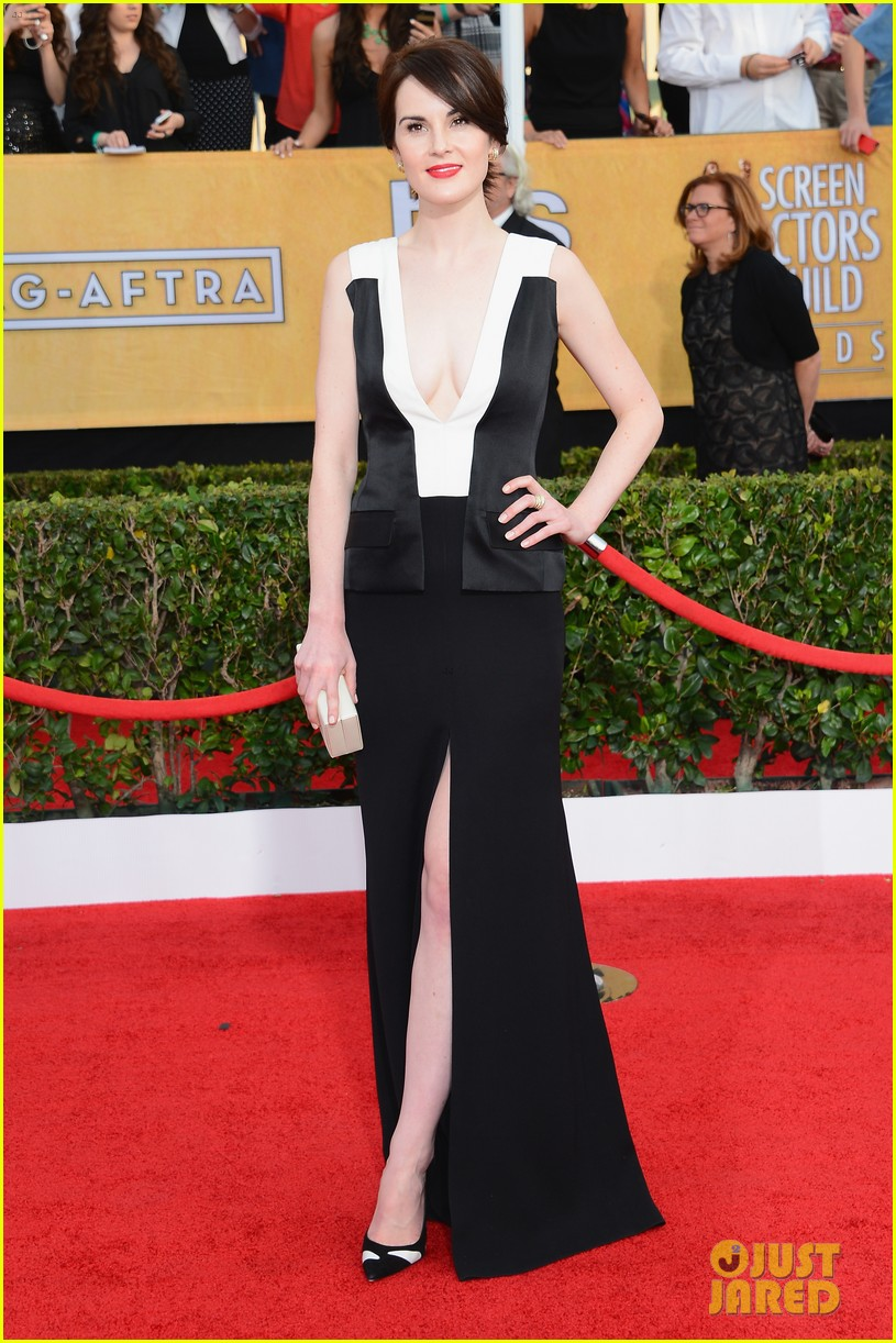 michelle dockery sag awards 2014 red carpet 033034610