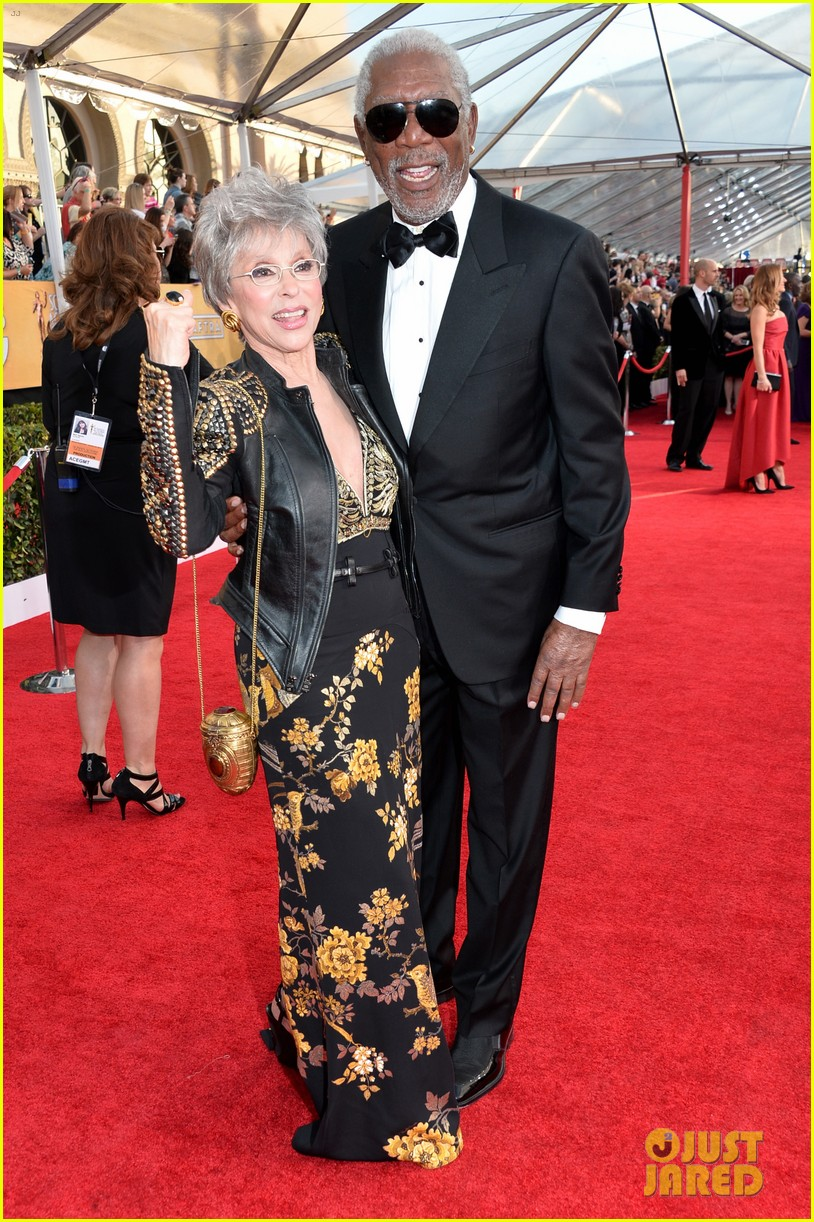 morgan freeman rita moreno sag awards 2014 red carpet 043034813