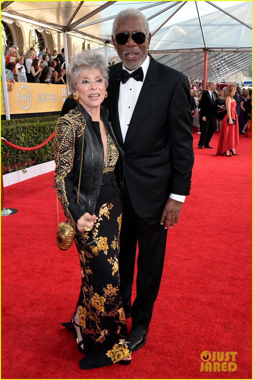 morgan freeman rita moreno sag awards 2014 red carpet 053034814