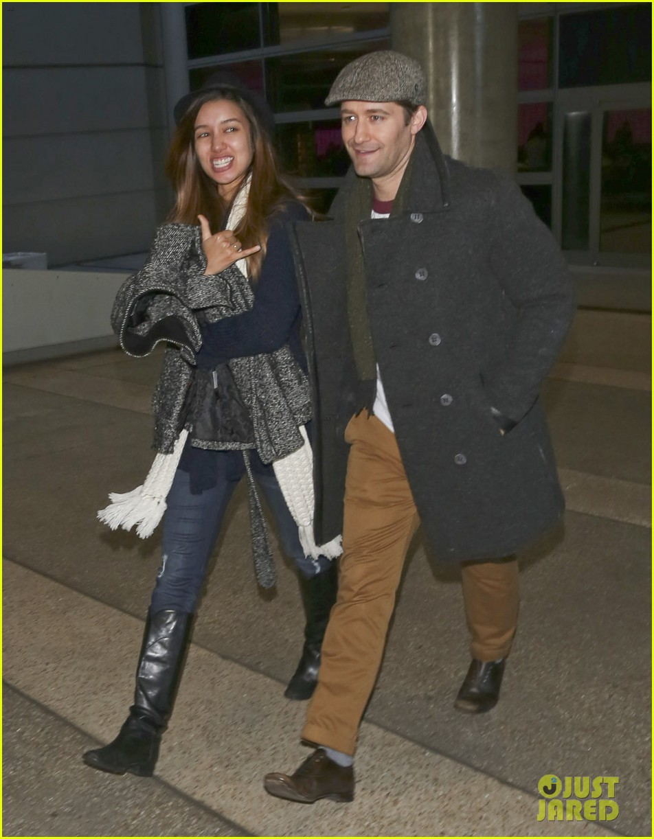matthew morrison renee puente lax landing with jc chasez 013021814