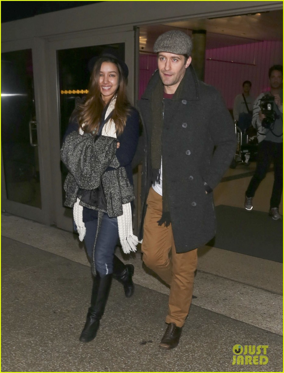 matthew morrison renee puente lax landing with jc chasez 153021828