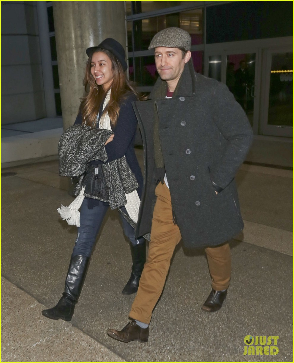 matthew morrison renee puente lax landing with jc chasez 173021830