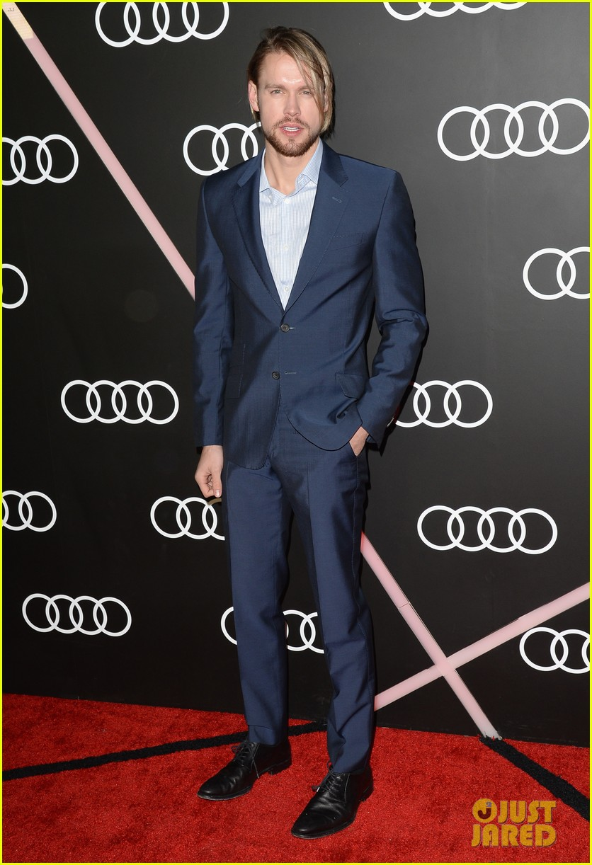 matthew morrison chord overstreet pre golden globes party 09