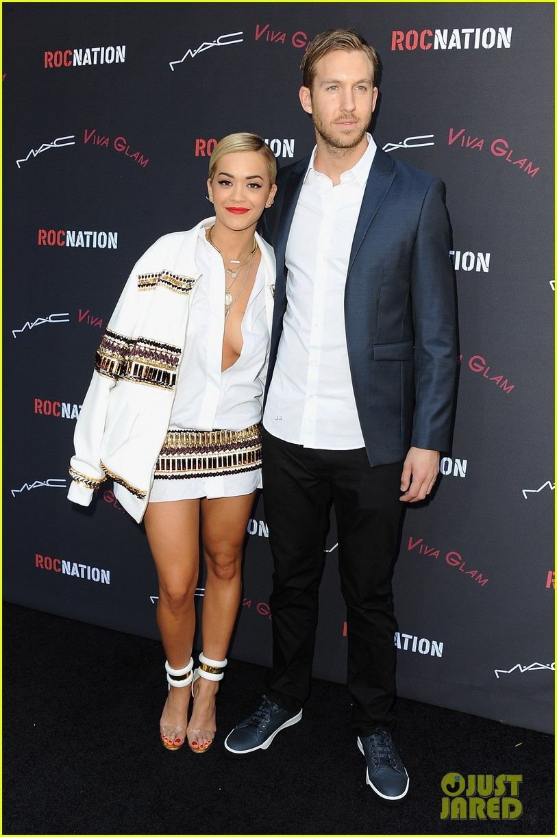 rita ora calvin harris red carpet couple debut 303040405
