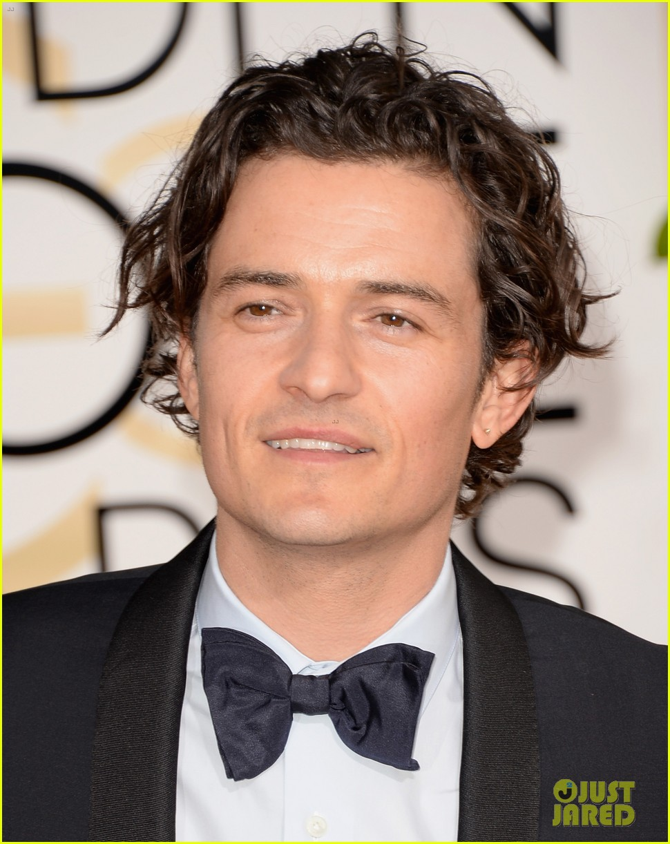 orlando bloom golden globes 2014 red carpet 013029398