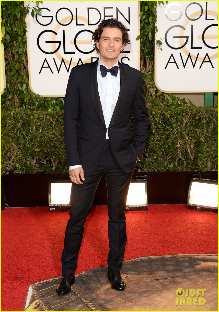 orlando bloom golden globes 2014 red carpet 033029400