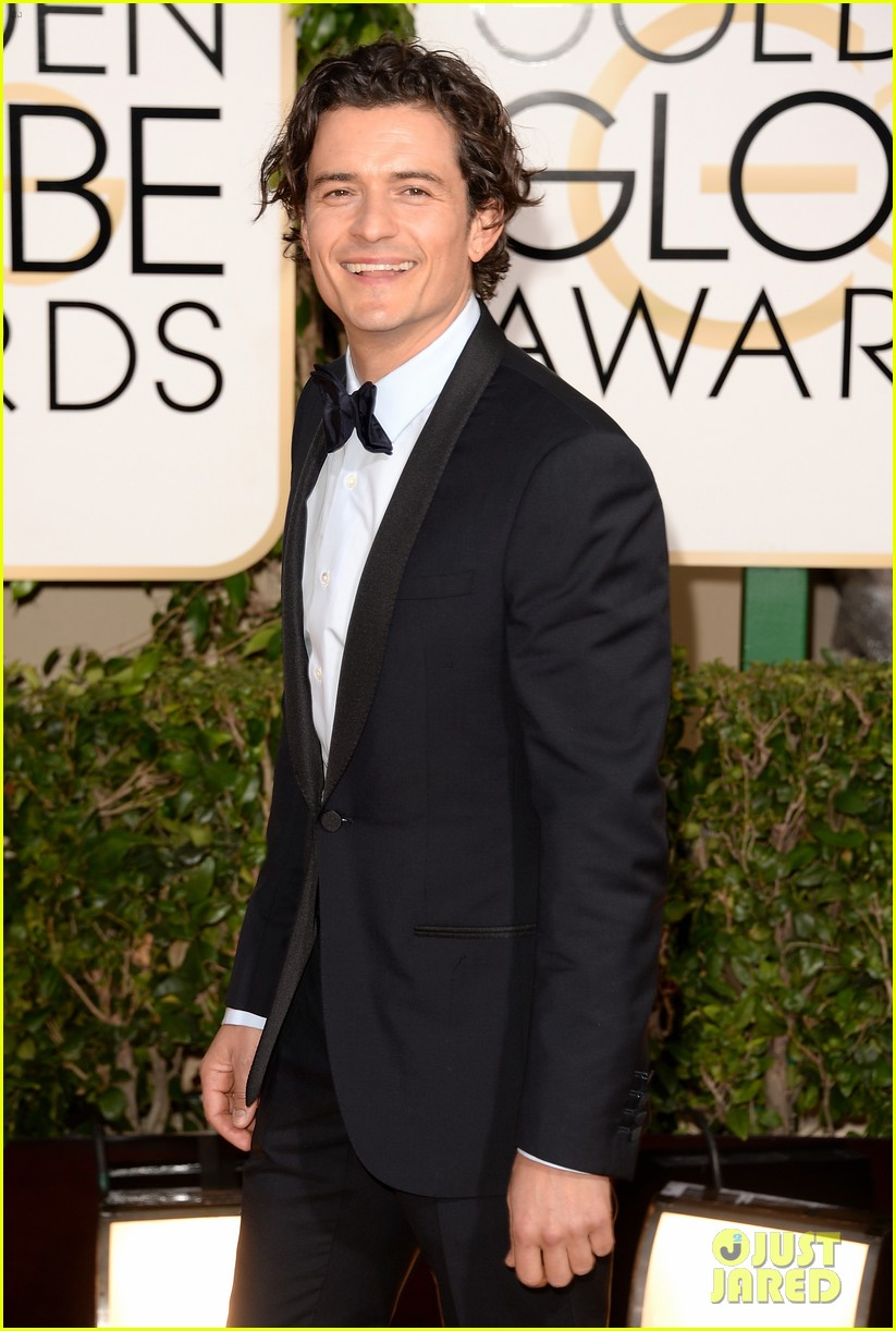orlando bloom golden globes 2014 red carpet 043029401