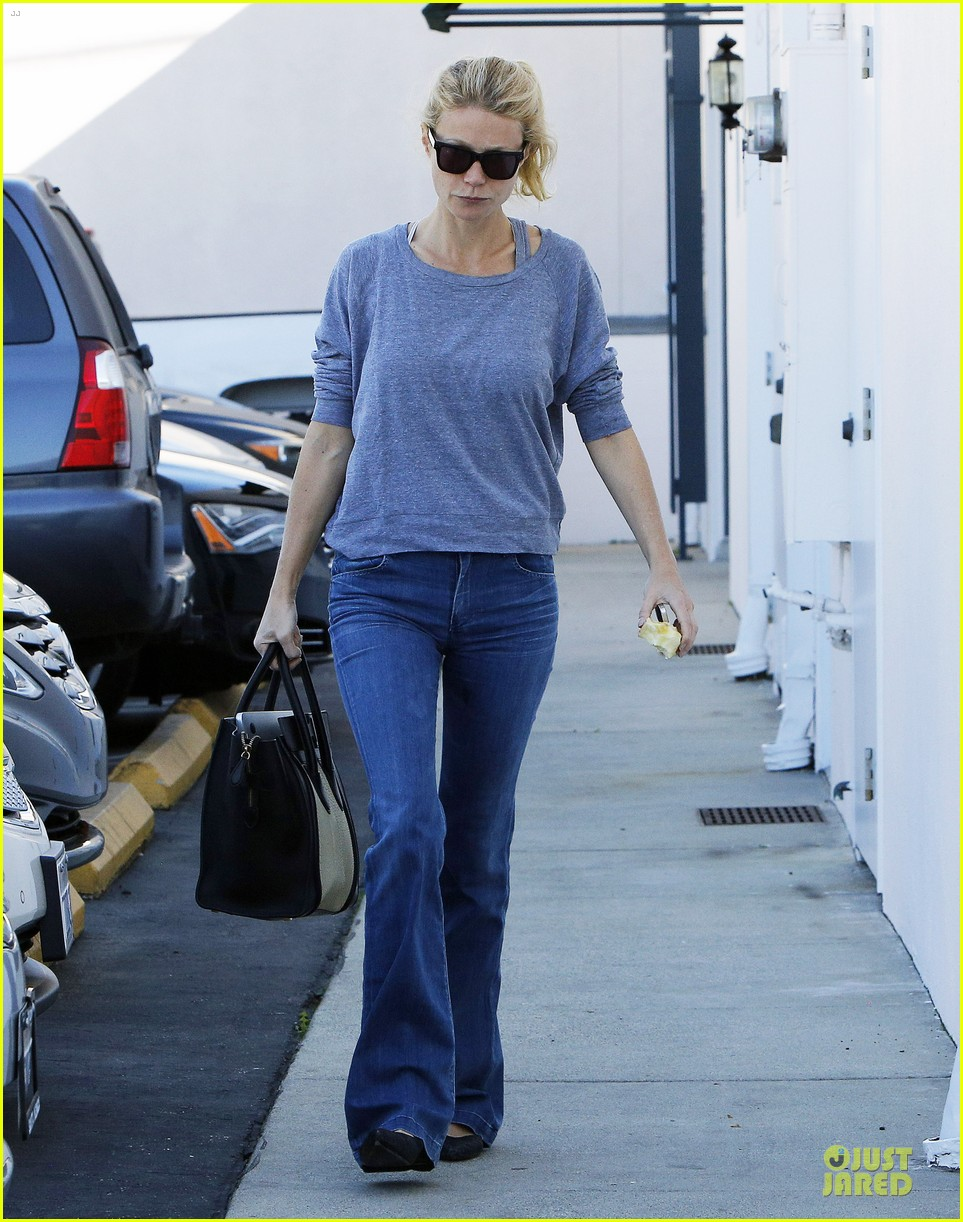 gwyneth paltrow medical building visit after the golden globes 083033853