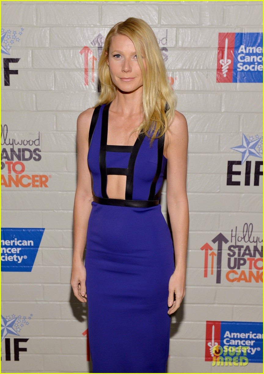 gwyneth paltrow rocks cut out dress to stand up to cancer 073043199