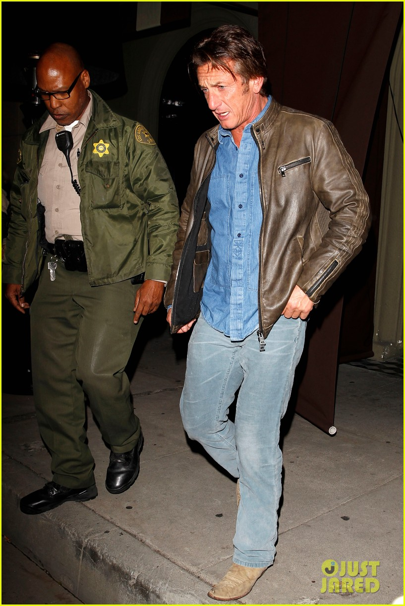 sean penn gets police escort out of solo dinner 053024473