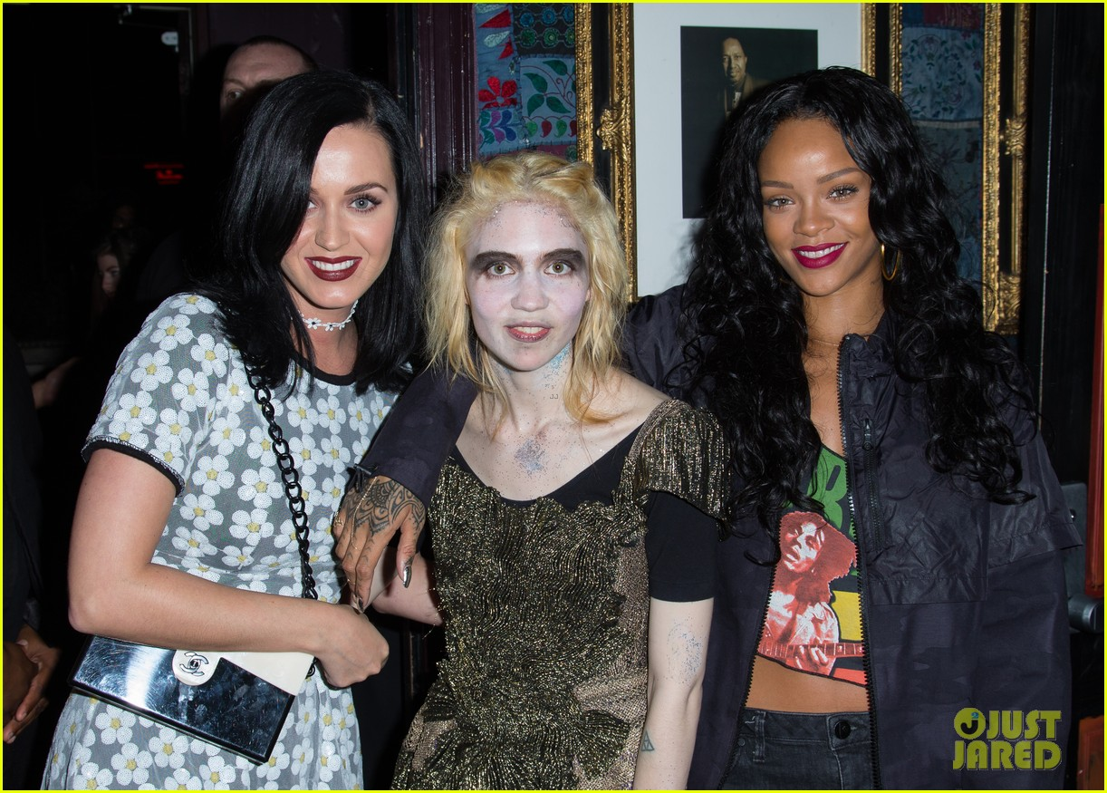 katy perry rihanna support grimes at pre grammys event 023040248
