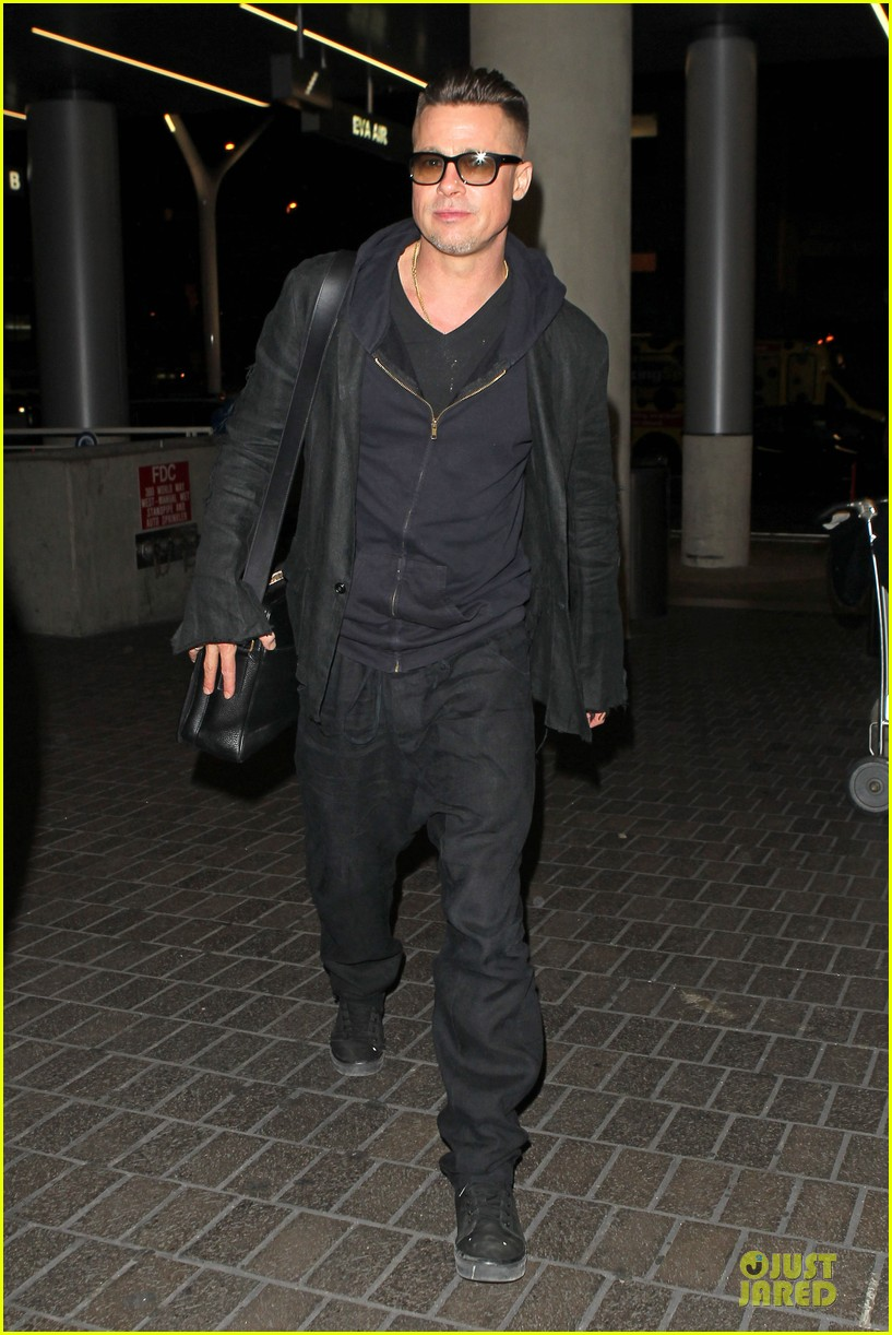 brad pitt lax departure after producers guild awards 013036192