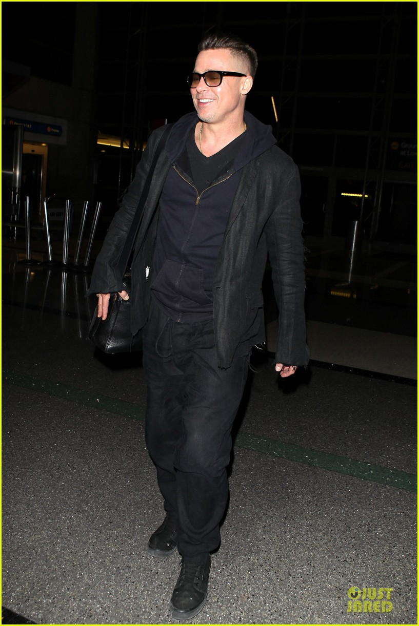 brad pitt lax departure after producers guild awards 033036194