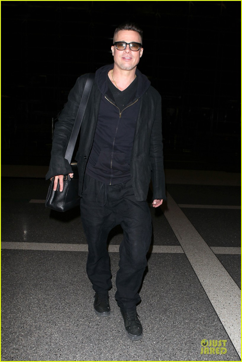 brad pitt lax departure after producers guild awards 063036197