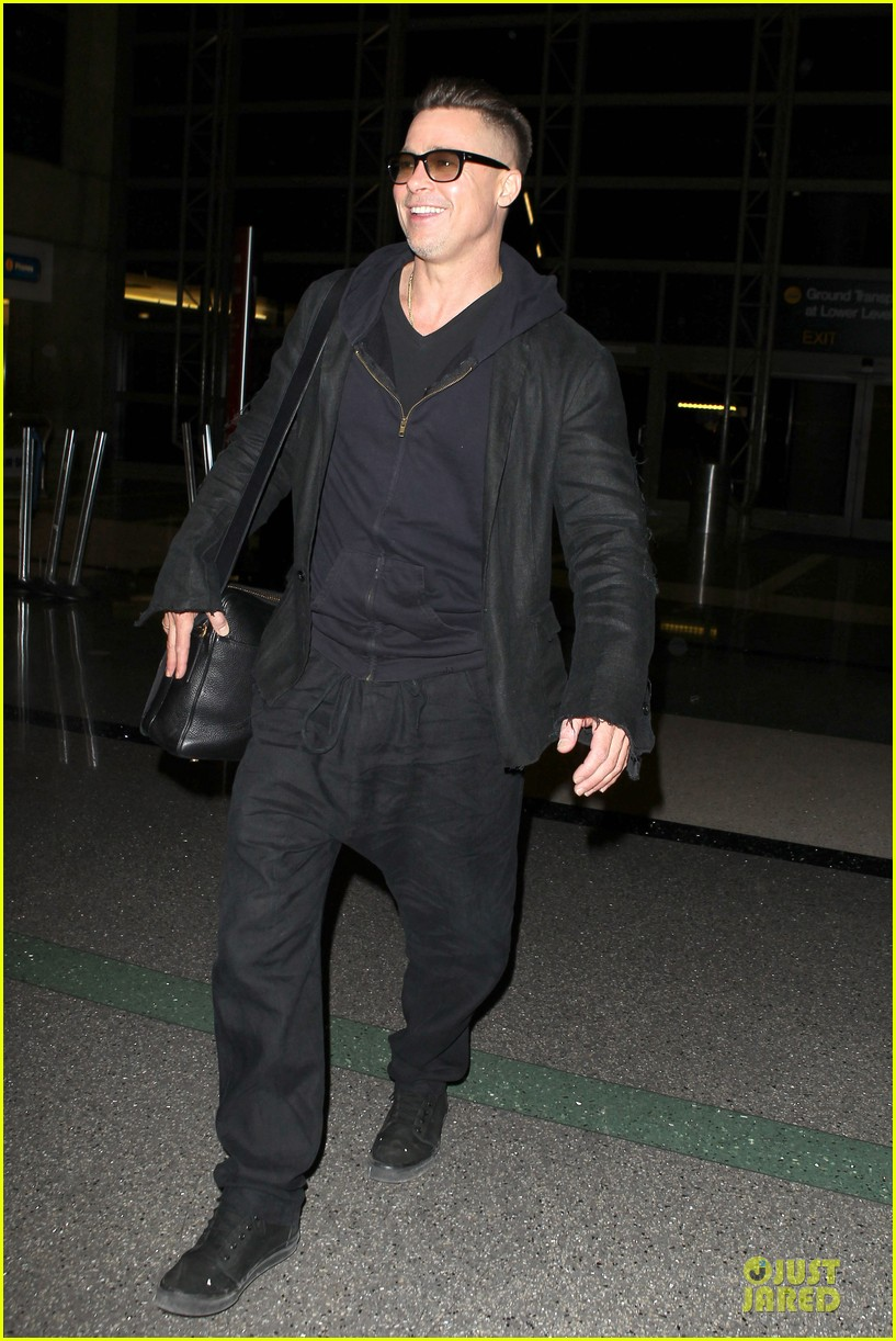 brad pitt lax departure after producers guild awards 253036216
