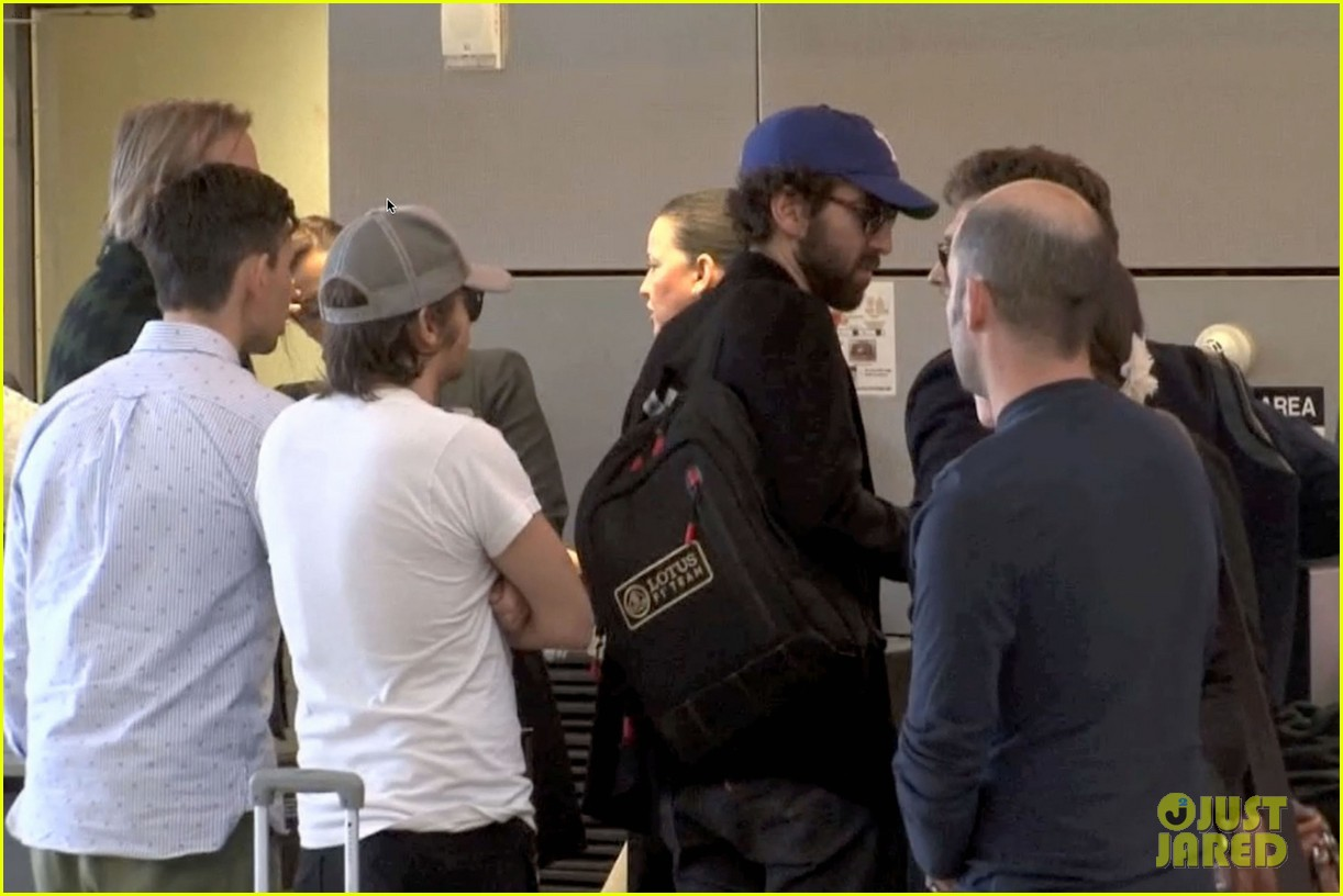 daft punk guys take helmets off for flight out of los angeles 053043663