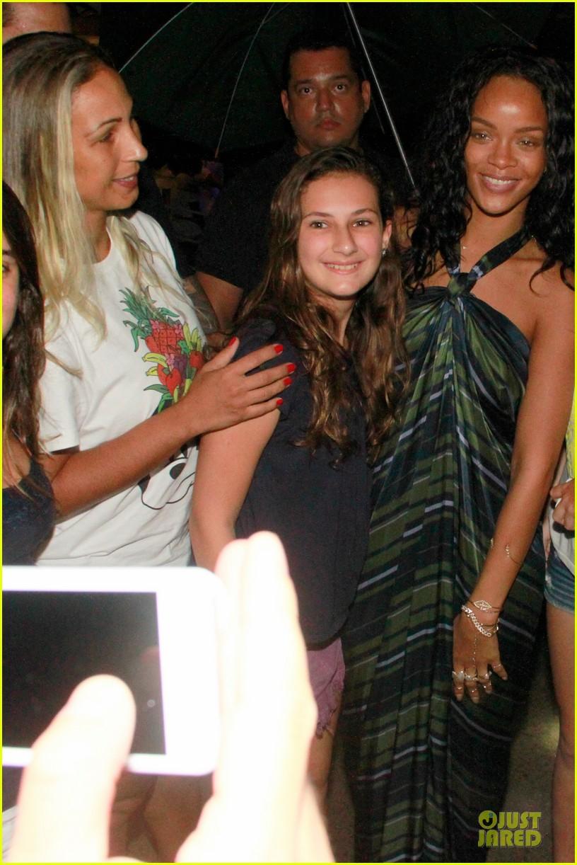 rihanna gold bikini beach babe in brazil 043036002