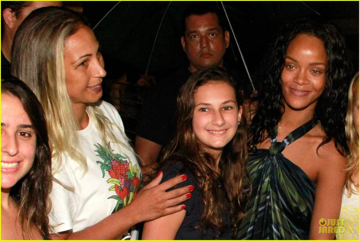 rihanna gold bikini beach babe in brazil 113036009