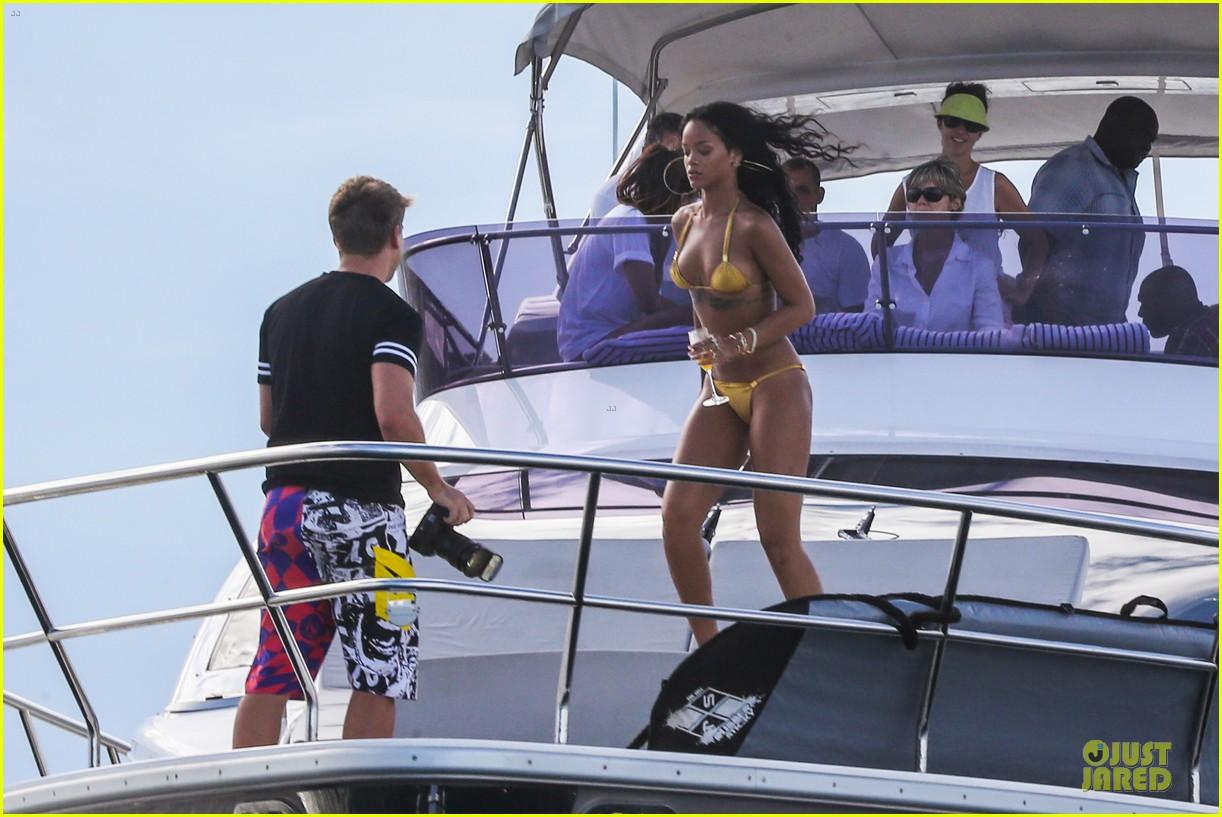 rihanna gold bikini beach babe in brazil 18