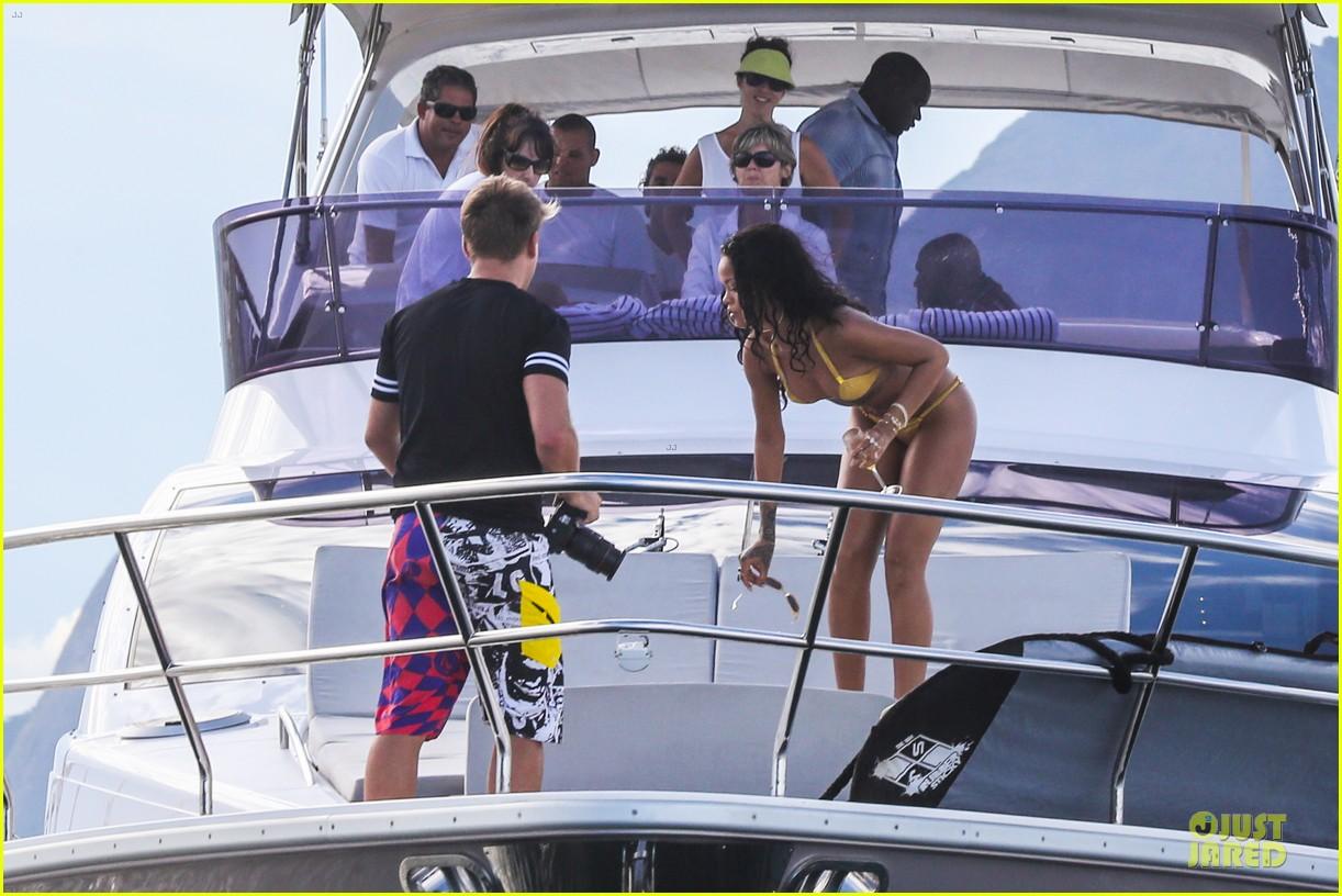 rihanna gold bikini beach babe in brazil 233036021