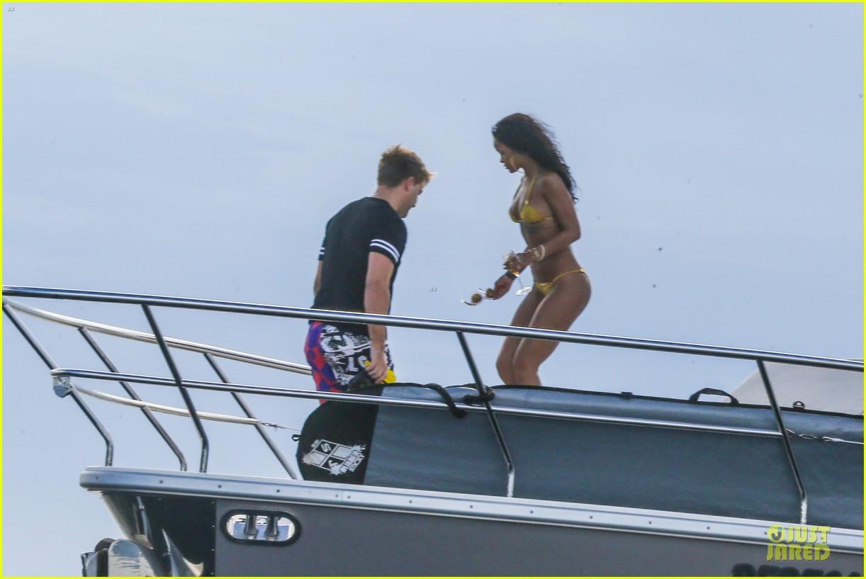 rihanna gold bikini beach babe in brazil 293036027