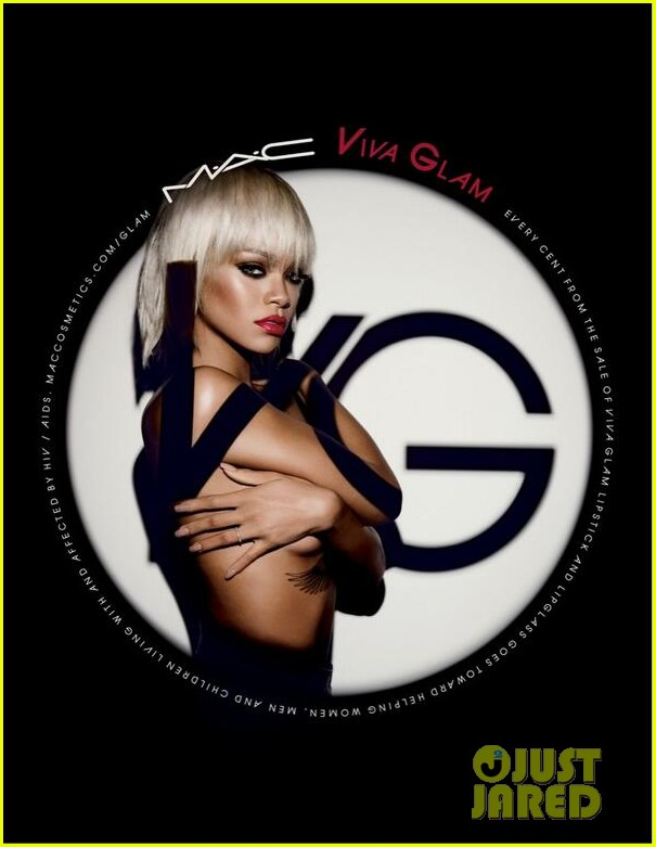 rihanna topless for macs viva glam ad campaign 01