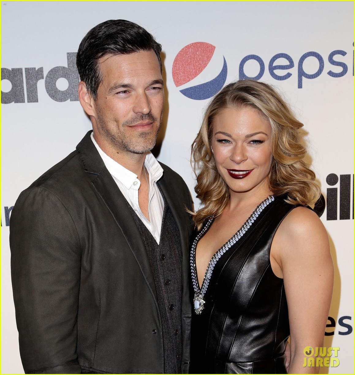 leann rimes billboards power 100 event with eddie cibrian 023038905