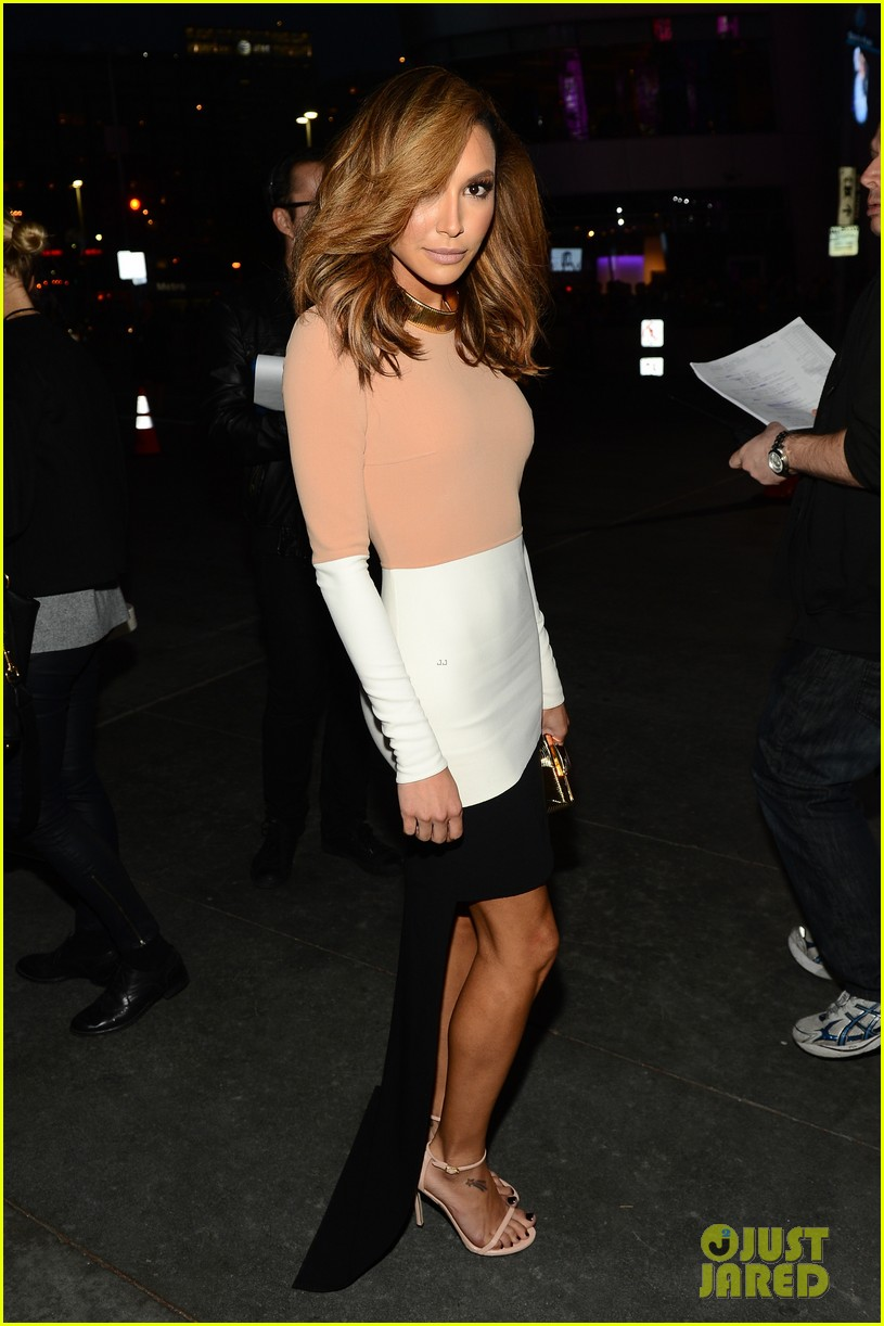 naya rivera goes blonde at peoples choice awards 2014 143025597