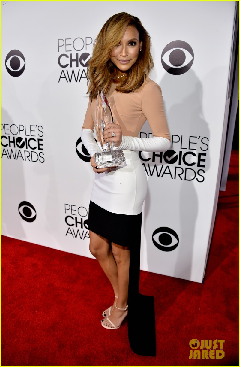 naya rivera goes blonde at peoples choice awards 2014 163025599