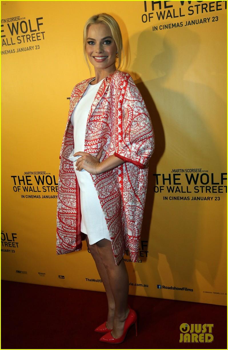 margot robbie wolf of wall street brisbane premiere 093036732