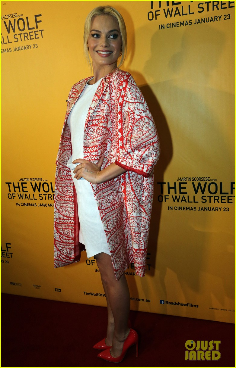 margot robbie wolf of wall street brisbane premiere 213036744