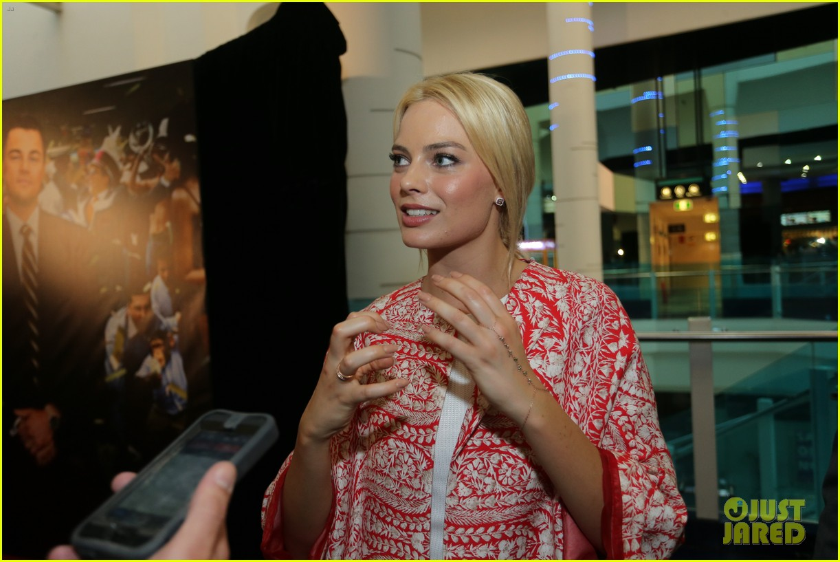 margot robbie wolf of wall street brisbane premiere 233036746
