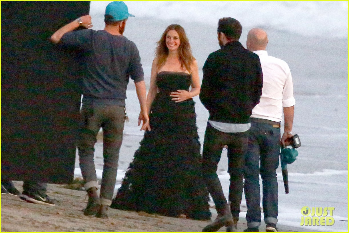 julia roberts wears elegant gown for beach photo shoot 233043864