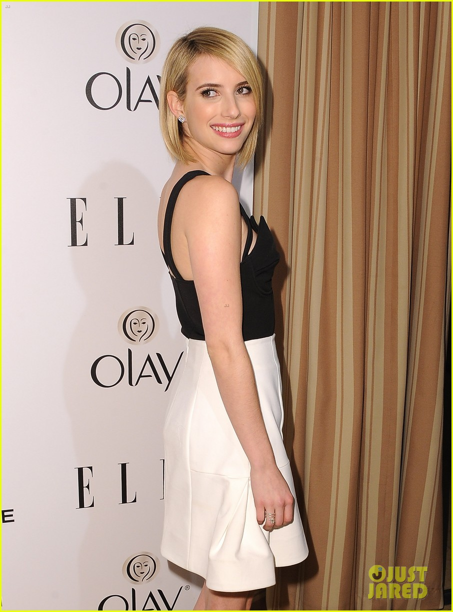 emma roberts debuts new haircut at elles women in tv celebration 2014 013038429