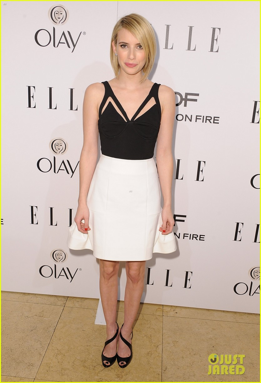 emma roberts debuts new haircut at elles women in tv celebration 2014 023038430