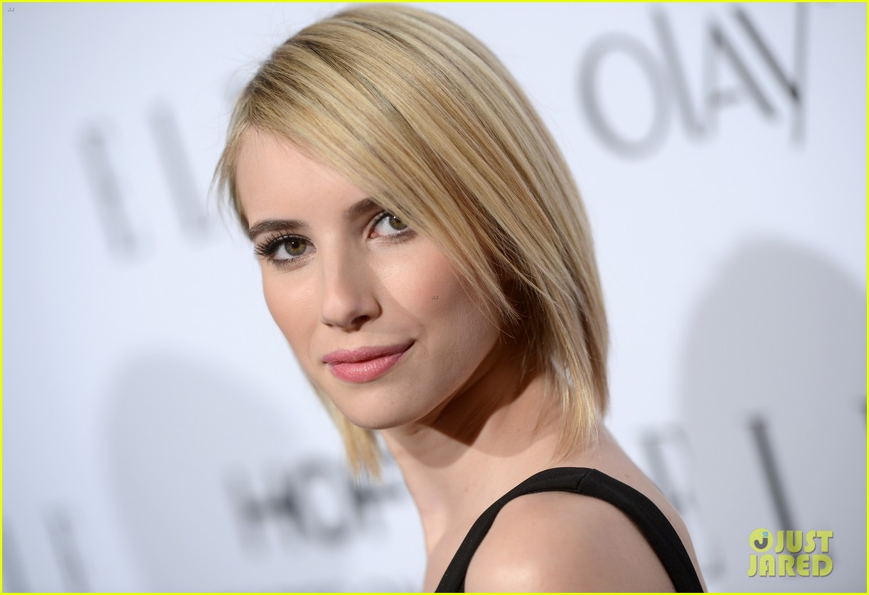 emma roberts debuts new haircut at elles women in tv celebration 2014 053038433