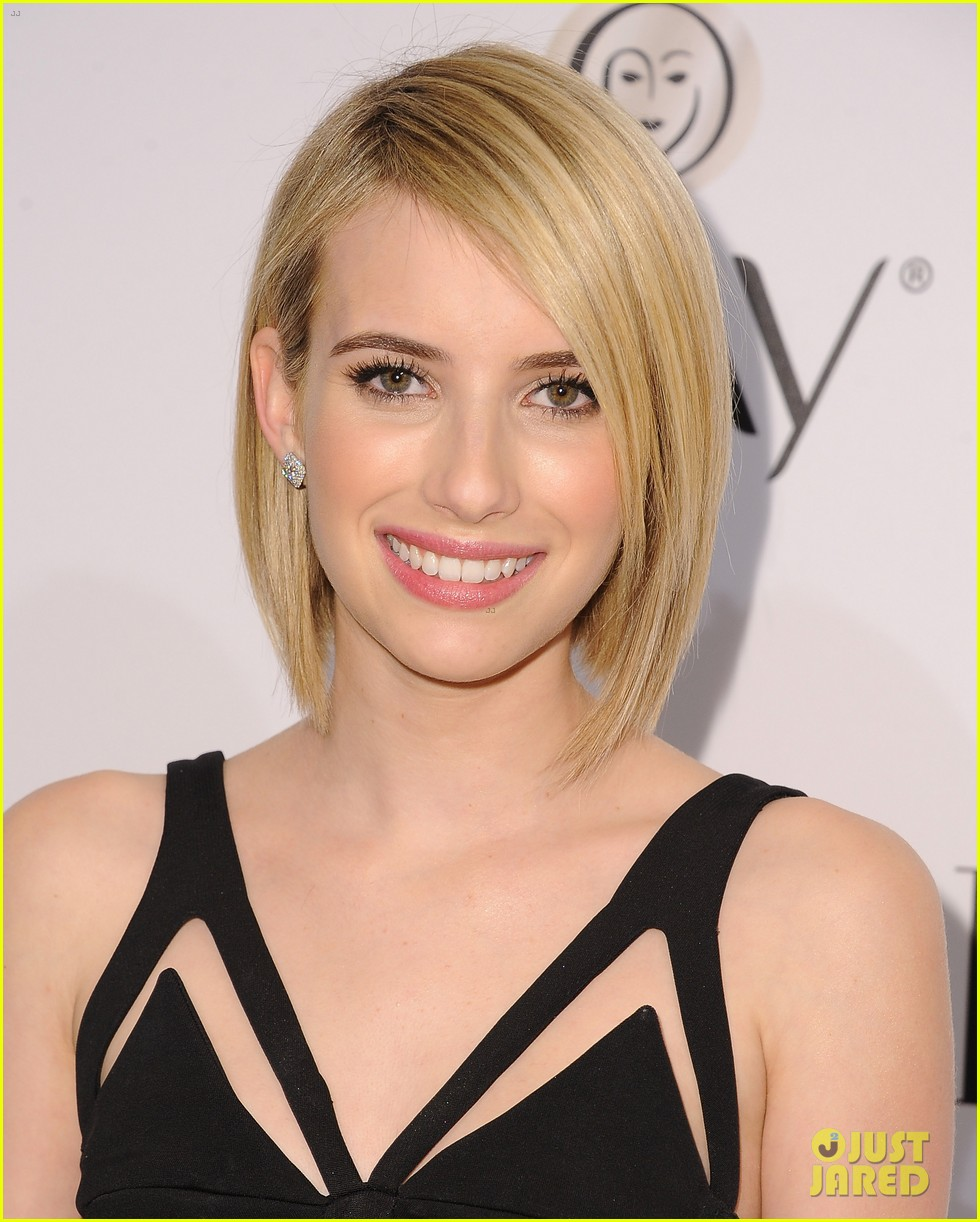 emma roberts debuts new haircut at elles women in tv celebration 2014 093038437