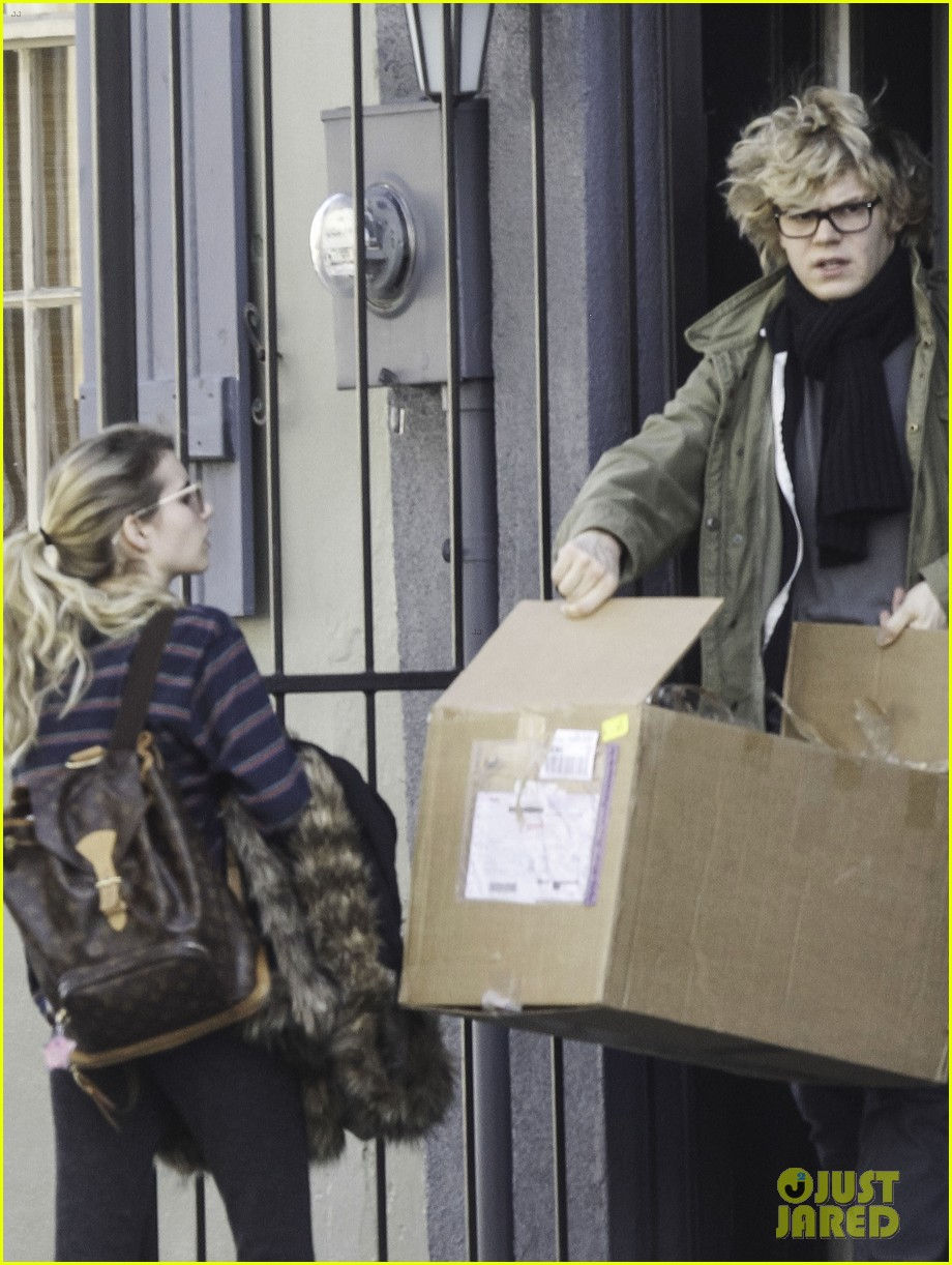 emma roberts evan peters step out together after engagement 013026473