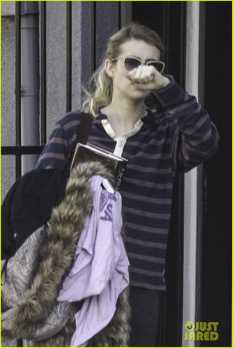 emma roberts evan peters step out together after engagement 023026474