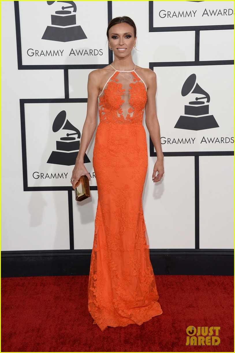 louise roe guiliana rancic grammys 2014 red carpet 01