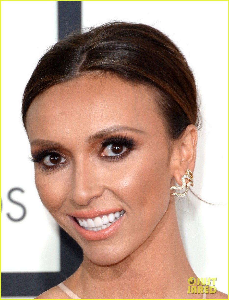 louise roe guiliana rancic grammys 2014 red carpet 073040920
