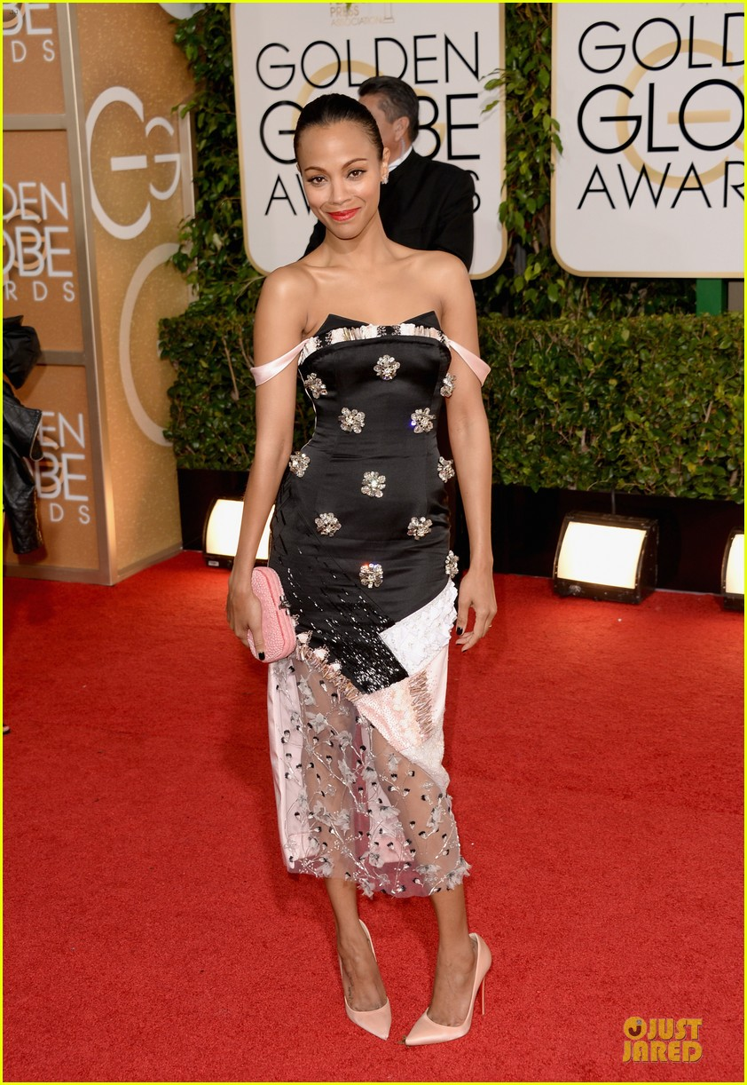 zoe saldana globen globes 2014 red carpet 013029315
