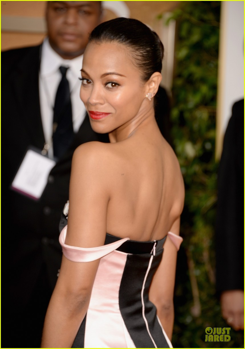 zoe saldana globen globes 2014 red carpet 023029316