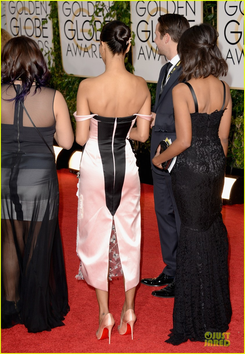 zoe saldana globen globes 2014 red carpet 063029320
