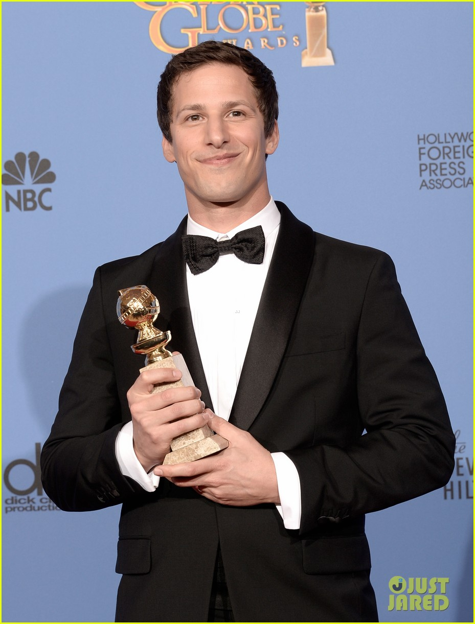 andy samberg wins best actor at golden globes 2014 063029641