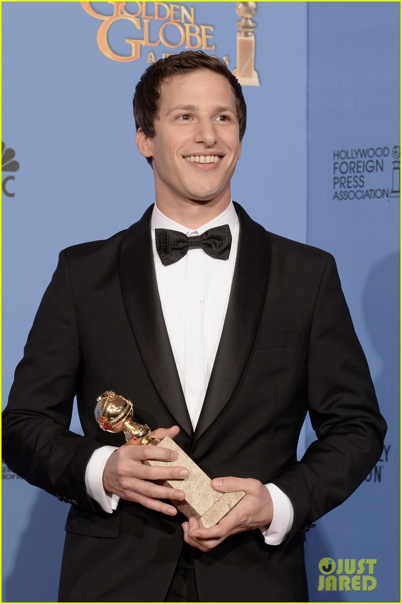 andy samberg wins best actor at golden globes 2014 073029642
